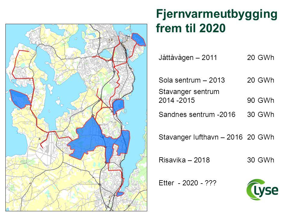 Fjernvarmeutbygging frem til 2020