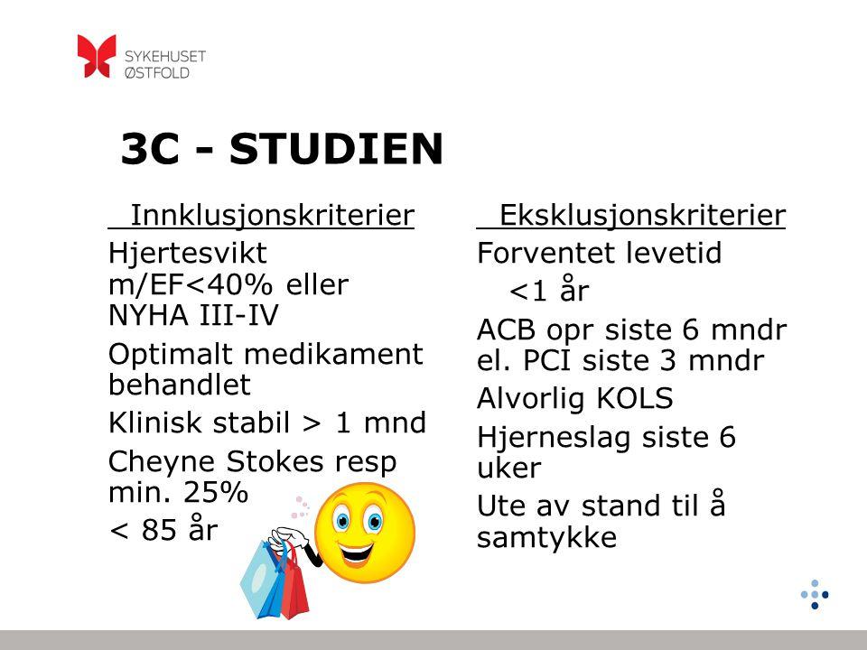 3C - STUDIEN Hjertesvikt m/EF<40% eller NYHA III-IV