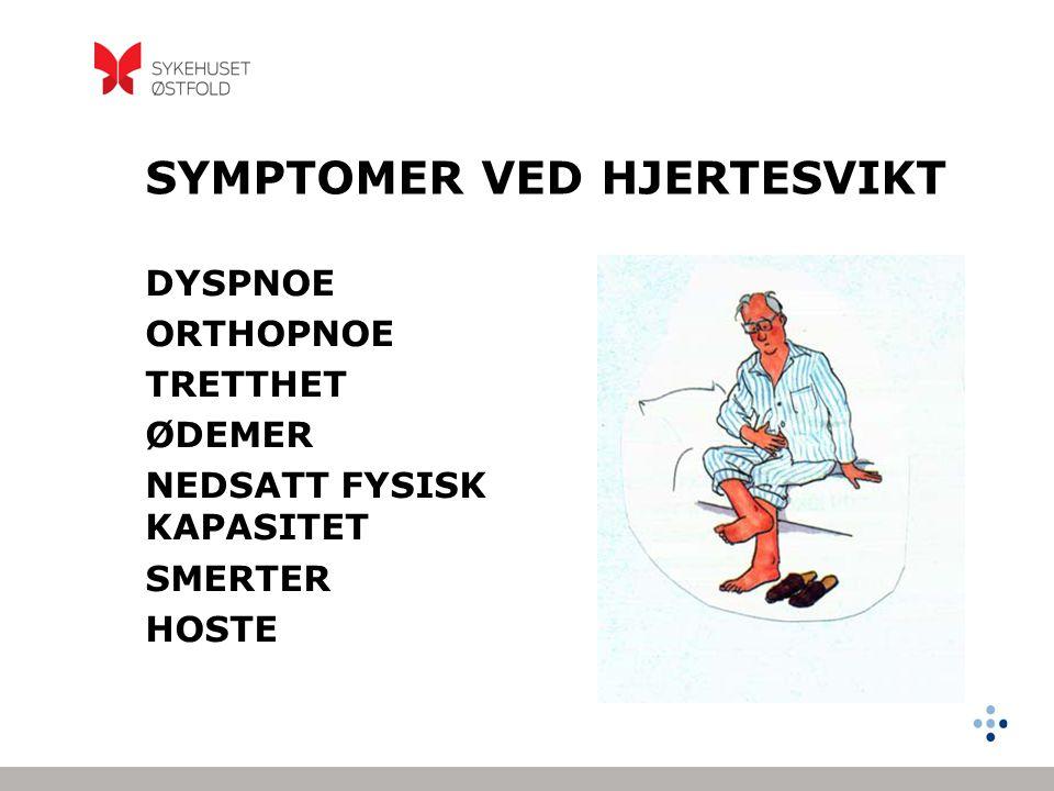 SYMPTOMER VED HJERTESVIKT