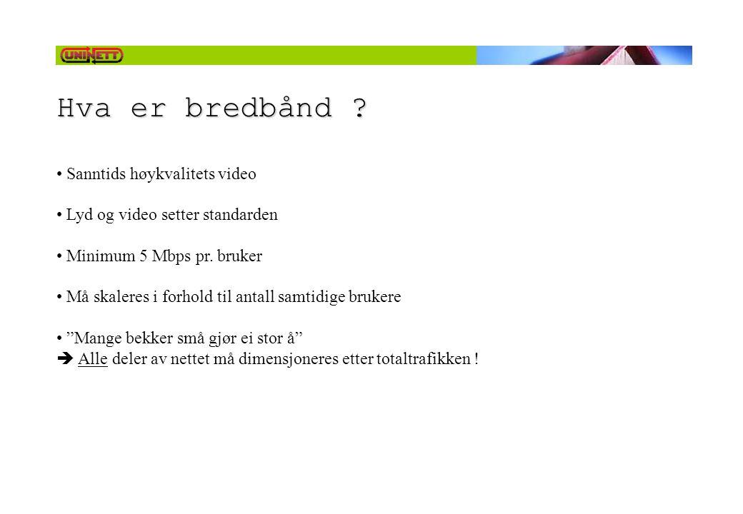 Hva er bredbånd Sanntids høykvalitets video