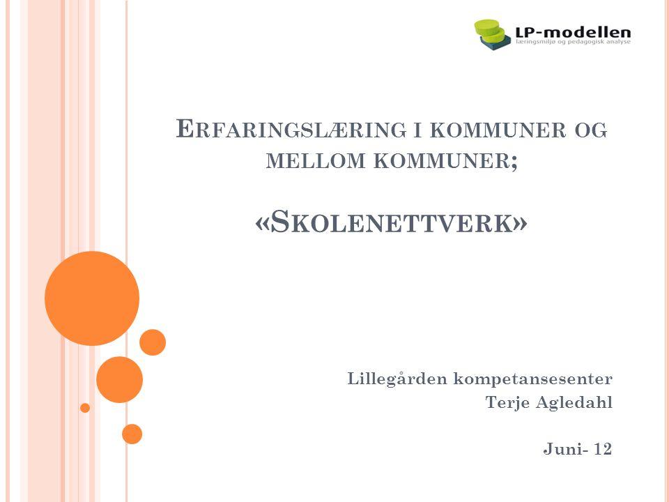 Erfaringslæring i kommuner og mellom kommuner; «Skolenettverk»