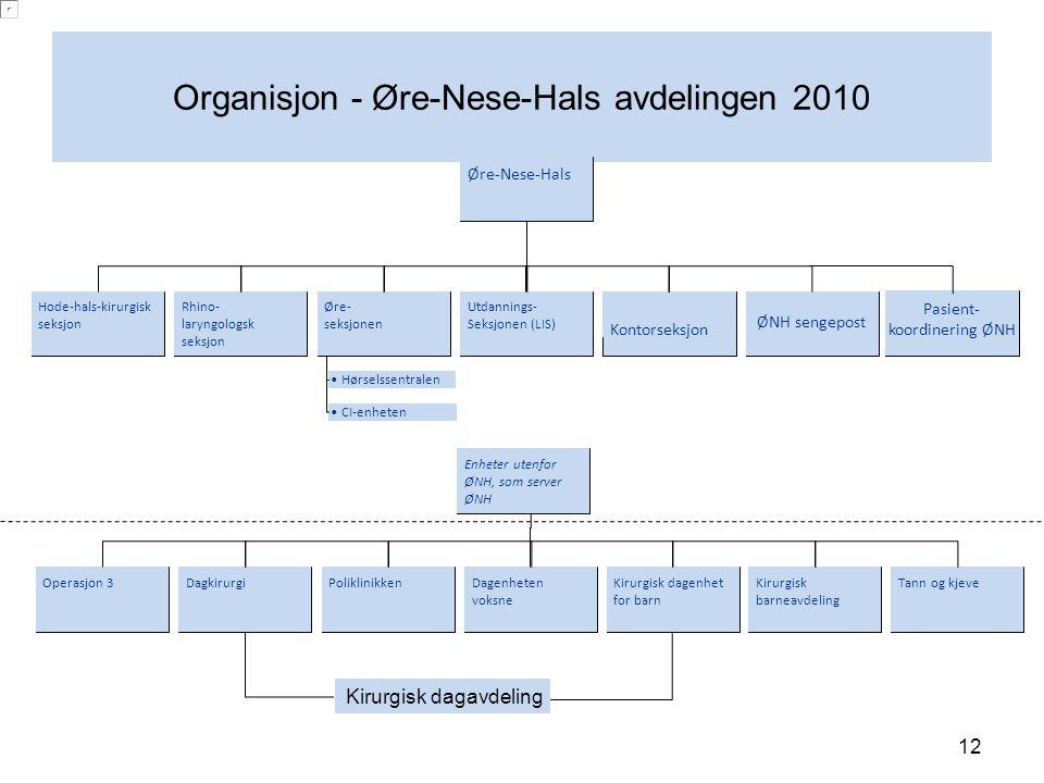 Organisjon - Øre-Nese-Hals avdelingen 2010