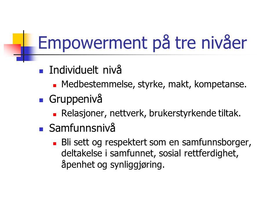 Empowerment på tre nivåer