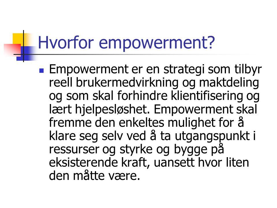 Hvorfor empowerment