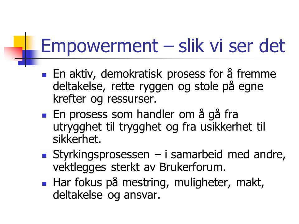 Empowerment – slik vi ser det