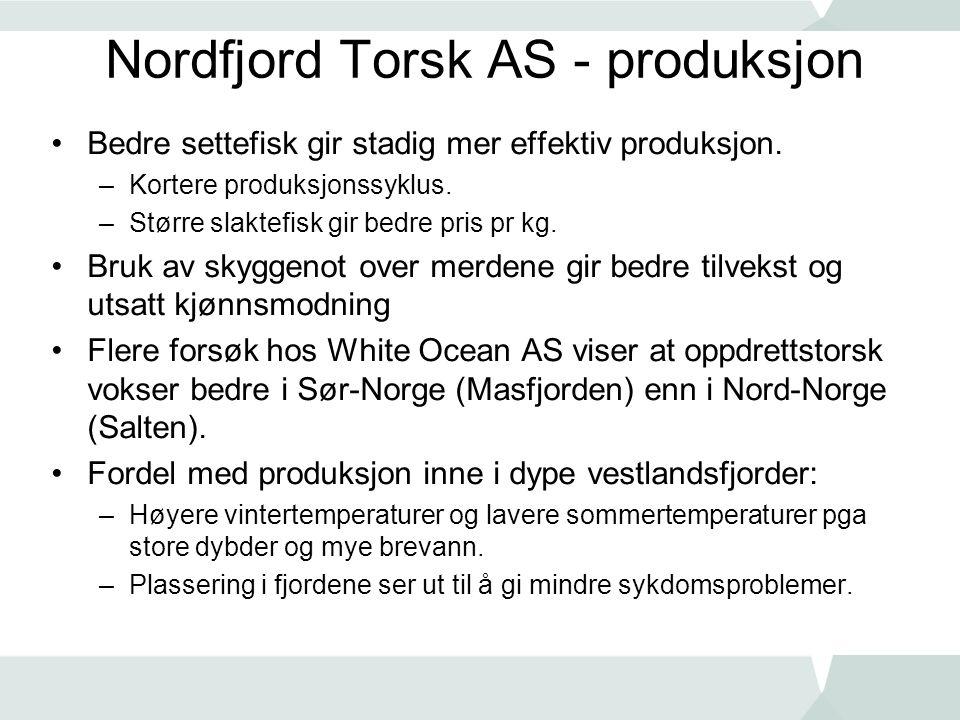 Nordfjord Torsk AS - produksjon