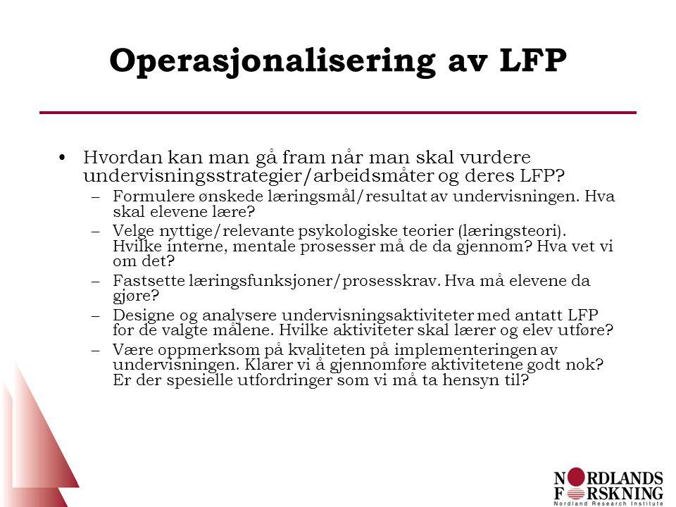 Operasjonalisering av LFP
