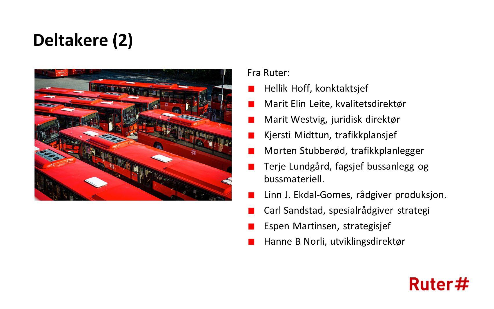 Deltakere (2) Fra Ruter: Hellik Hoff, konktaktsjef