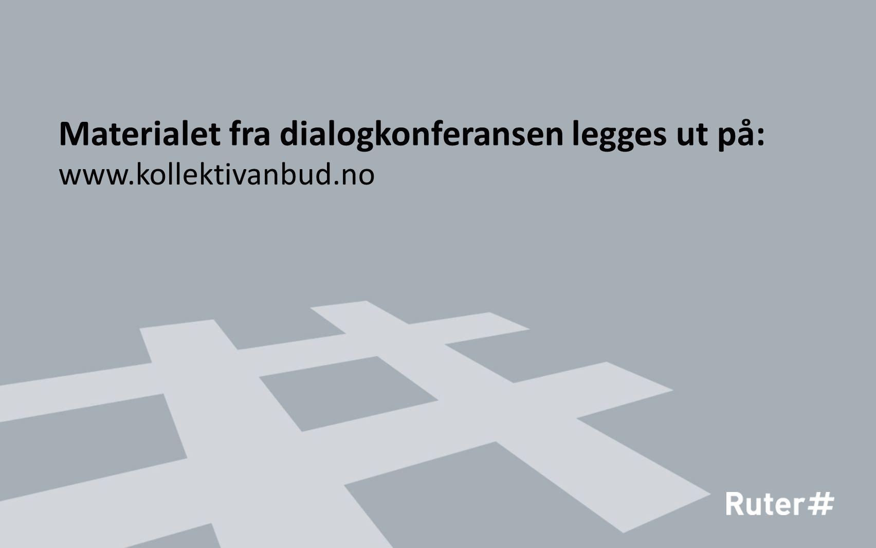 Materialet fra dialogkonferansen legges ut på: