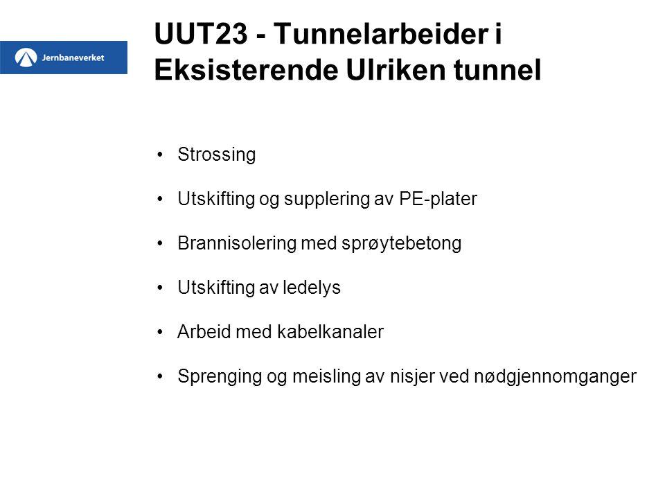 UUT23 - Tunnelarbeider i Eksisterende Ulriken tunnel
