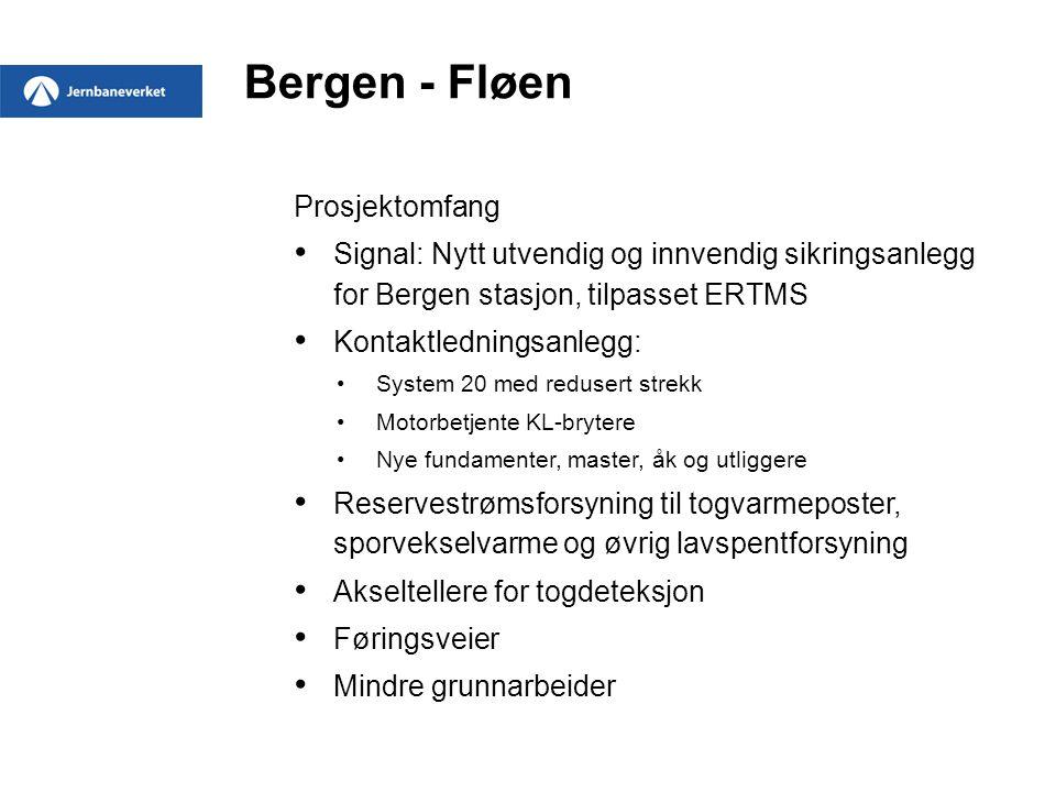 Bergen - Fløen Prosjektomfang