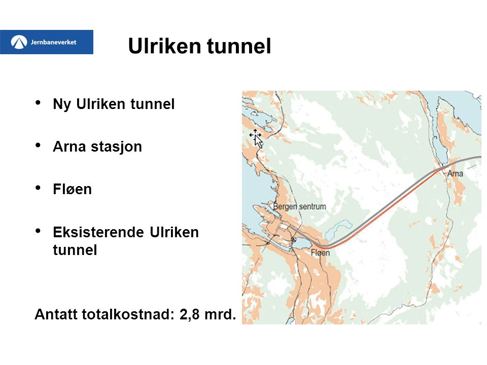 Ulriken tunnel Ny Ulriken tunnel Arna stasjon Fløen