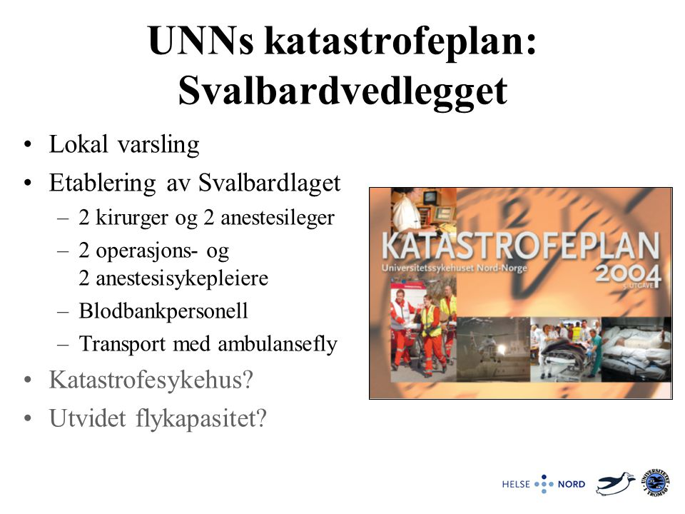 UNNs katastrofeplan: Svalbardvedlegget