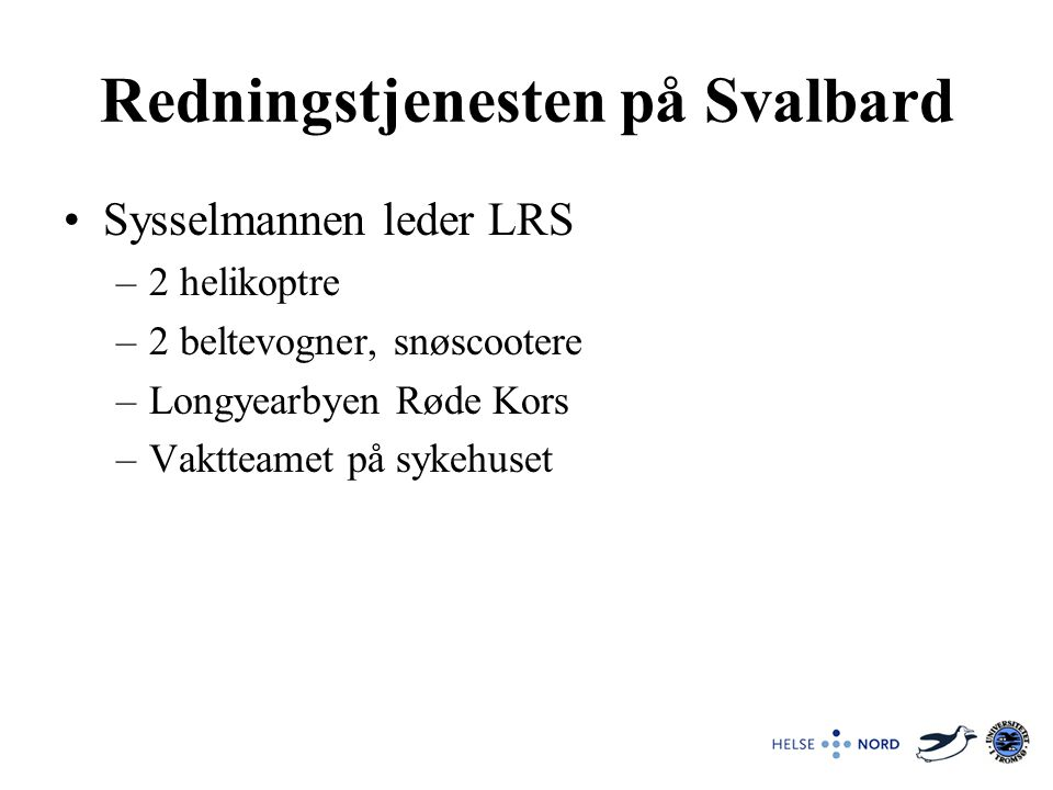Redningstjenesten på Svalbard