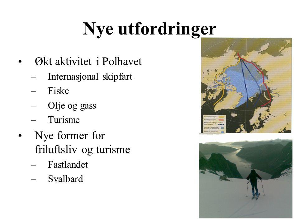 Nye utfordringer Økt aktivitet i Polhavet