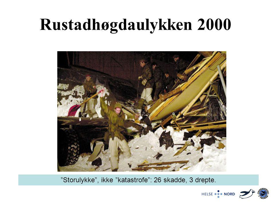 Storulykke , ikke katastrofe : 26 skadde, 3 drepte.