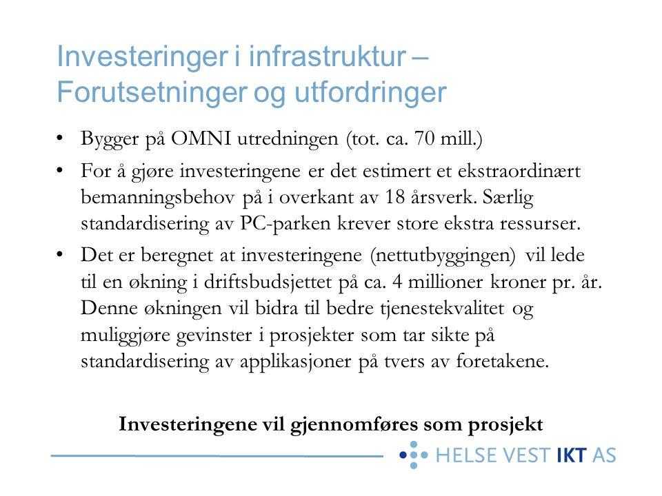 Investeringer i infrastruktur – Forutsetninger og utfordringer
