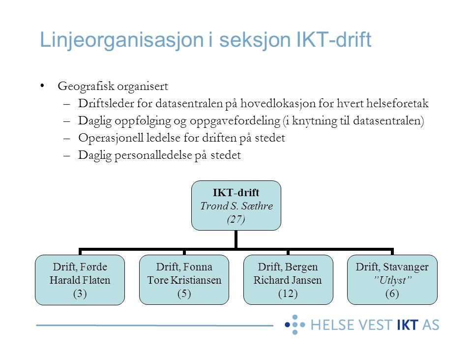 Linjeorganisasjon i seksjon IKT-drift