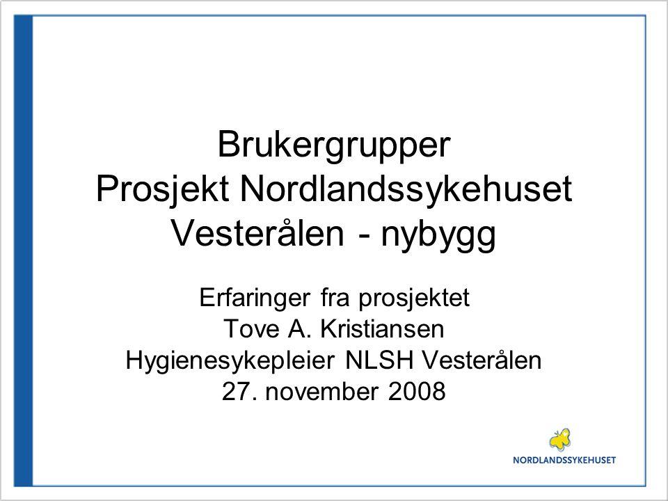 Brukergrupper Prosjekt Nordlandssykehuset Vesterålen - nybygg