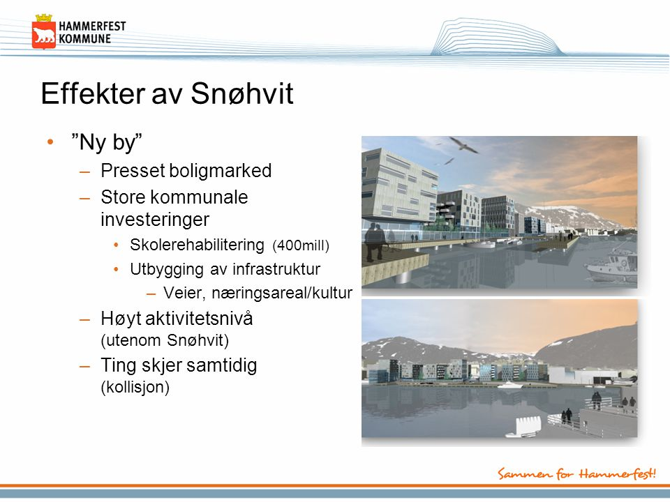 Effekter av Snøhvit Ny by Presset boligmarked