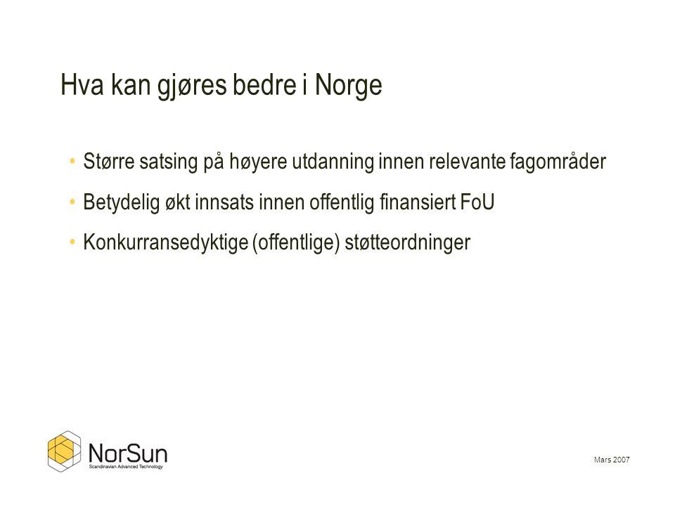 Hva kan gjøres bedre i Norge