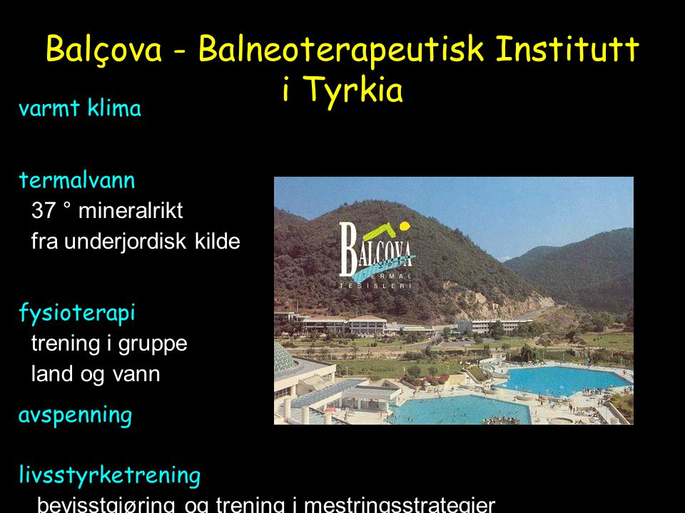 Balçova - Balneoterapeutisk Institutt i Tyrkia