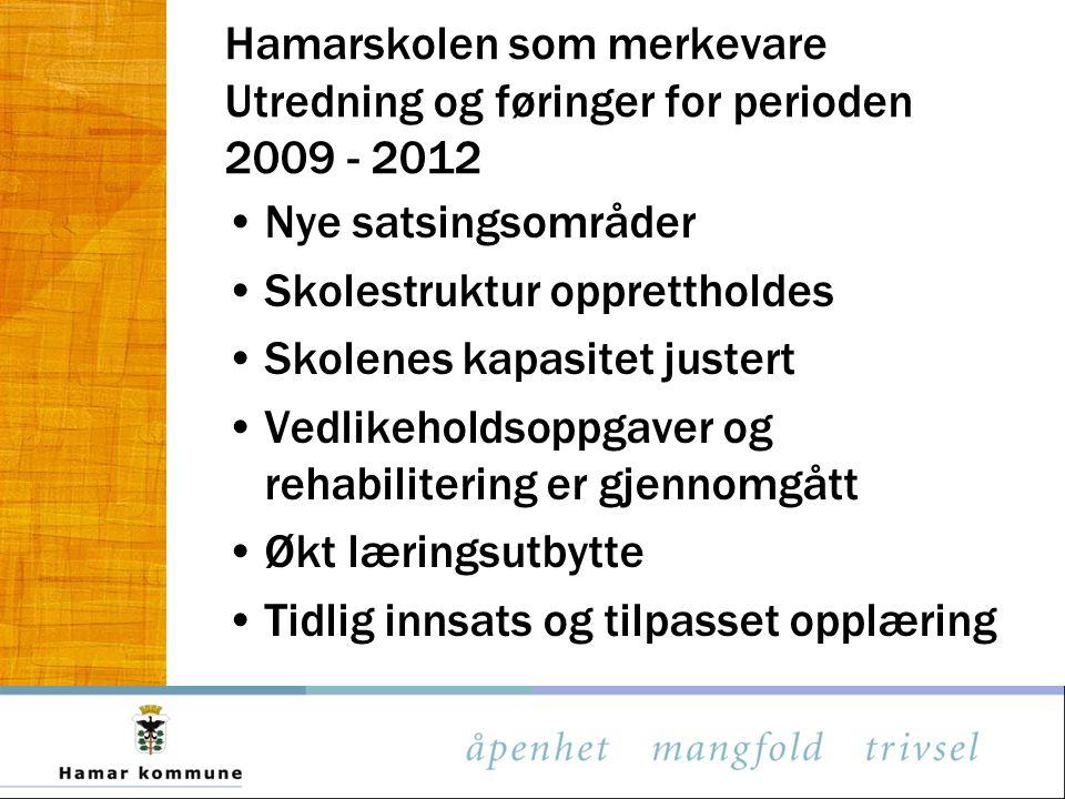 Hamarskolen som merkevare Utredning og føringer for perioden 2009 - 2012