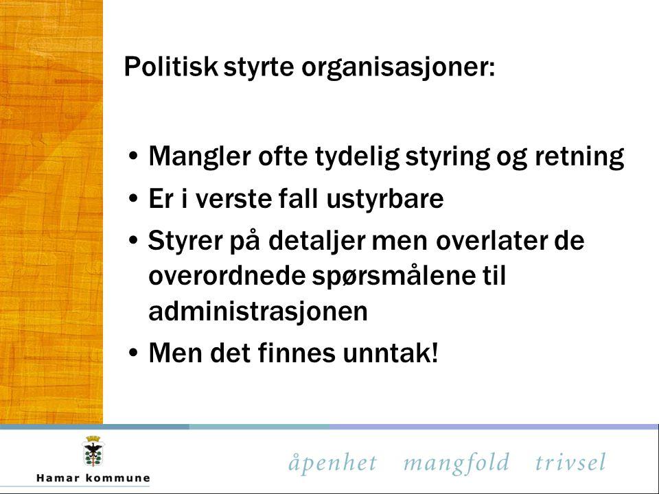 Politisk styrte organisasjoner:
