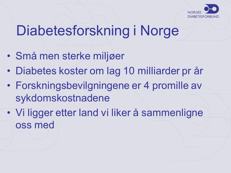 Diabetesforskning i Norge
