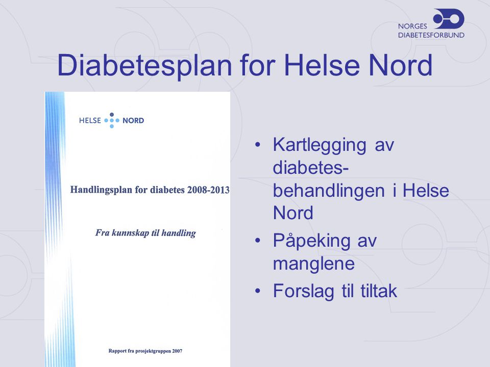 Diabetesplan for Helse Nord