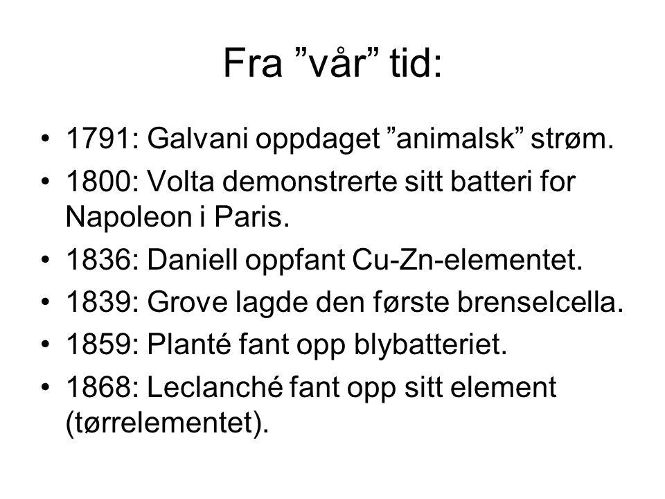 Fra vår tid: 1791: Galvani oppdaget animalsk strøm.
