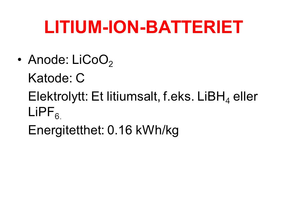 LITIUM-ION-BATTERIET