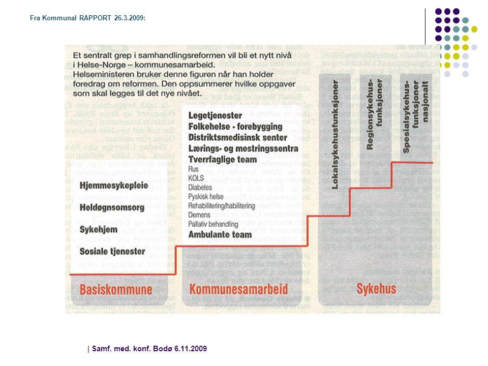 Fra Kommunal RAPPORT 26.3.2009: | Samf. med. konf. Bodø 6.11.2009 | 8 8
