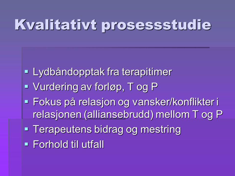Kvalitativt prosessstudie
