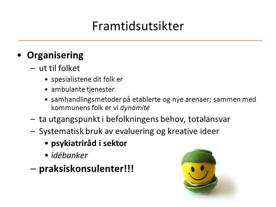 Framtidsutsikter Organisering praksiskonsulenter!!! ut til folket