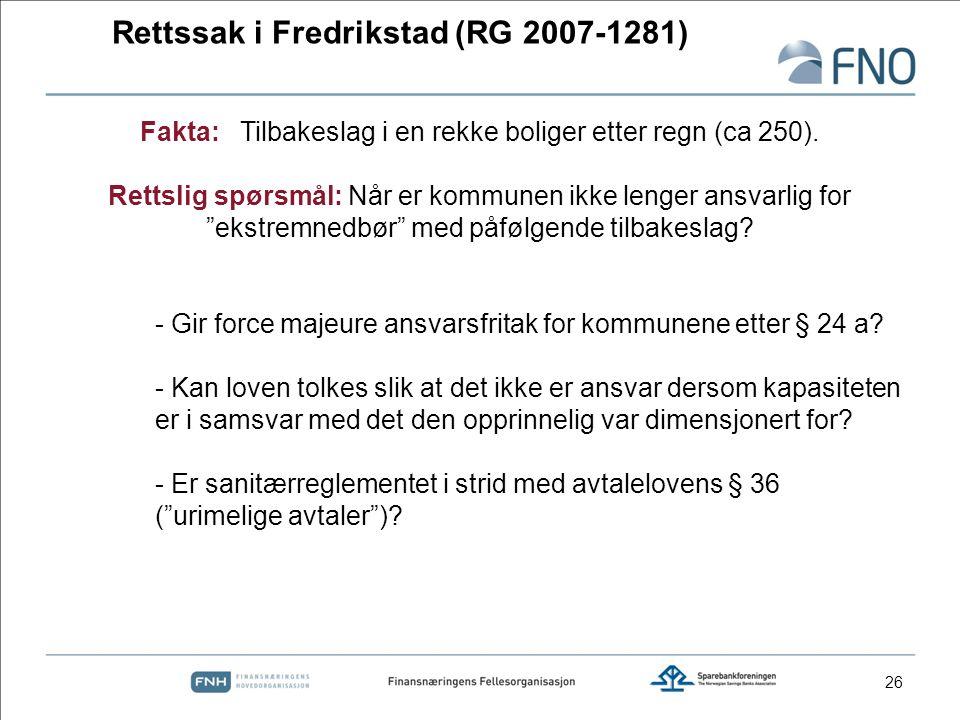 Rettssak i Fredrikstad (RG 2007-1281)