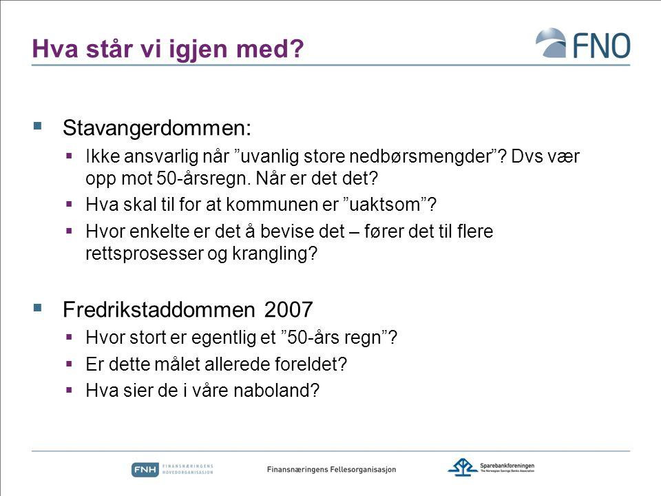 Hva står vi igjen med Stavangerdommen: Fredrikstaddommen 2007