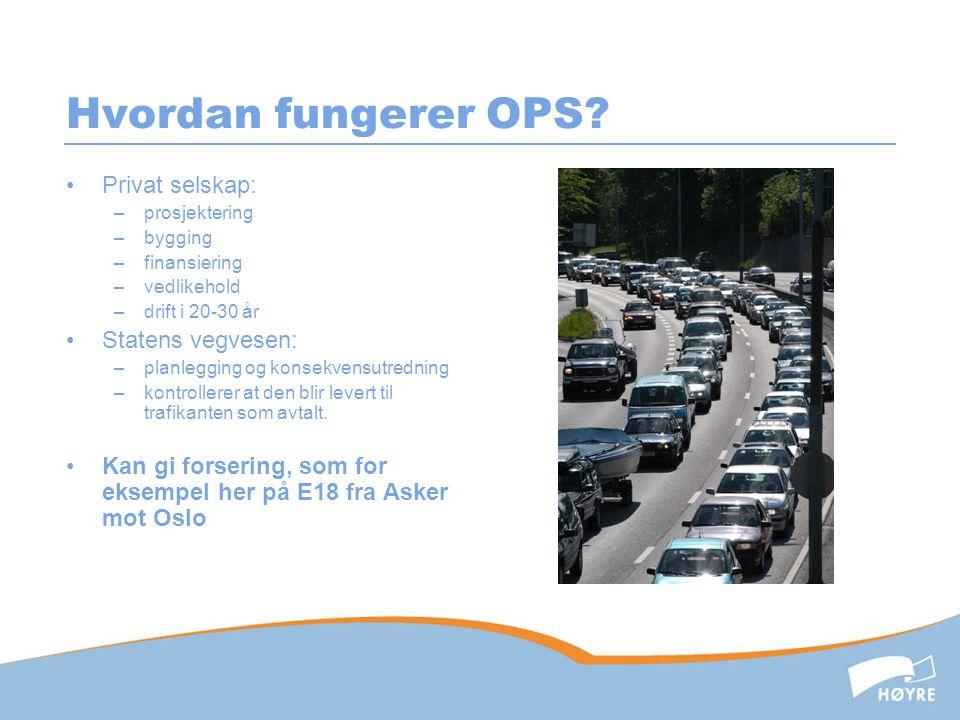 Hvordan fungerer OPS Privat selskap: Statens vegvesen: