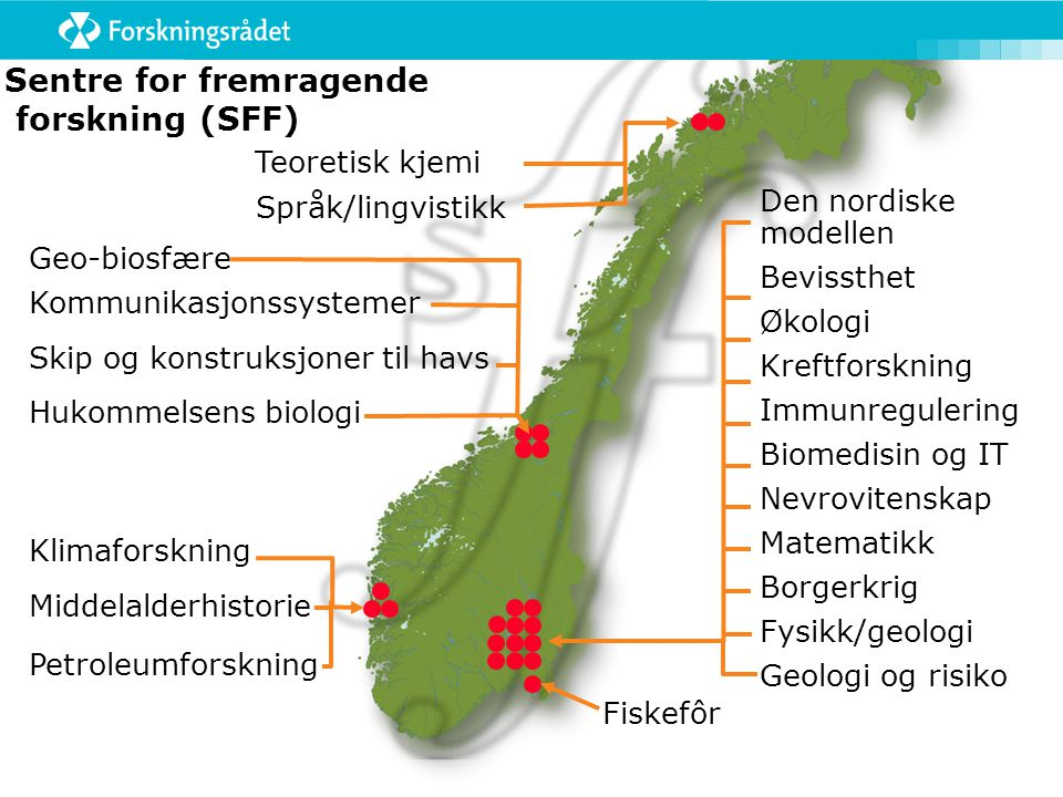 Sentre for fremragende forskning (SFF)