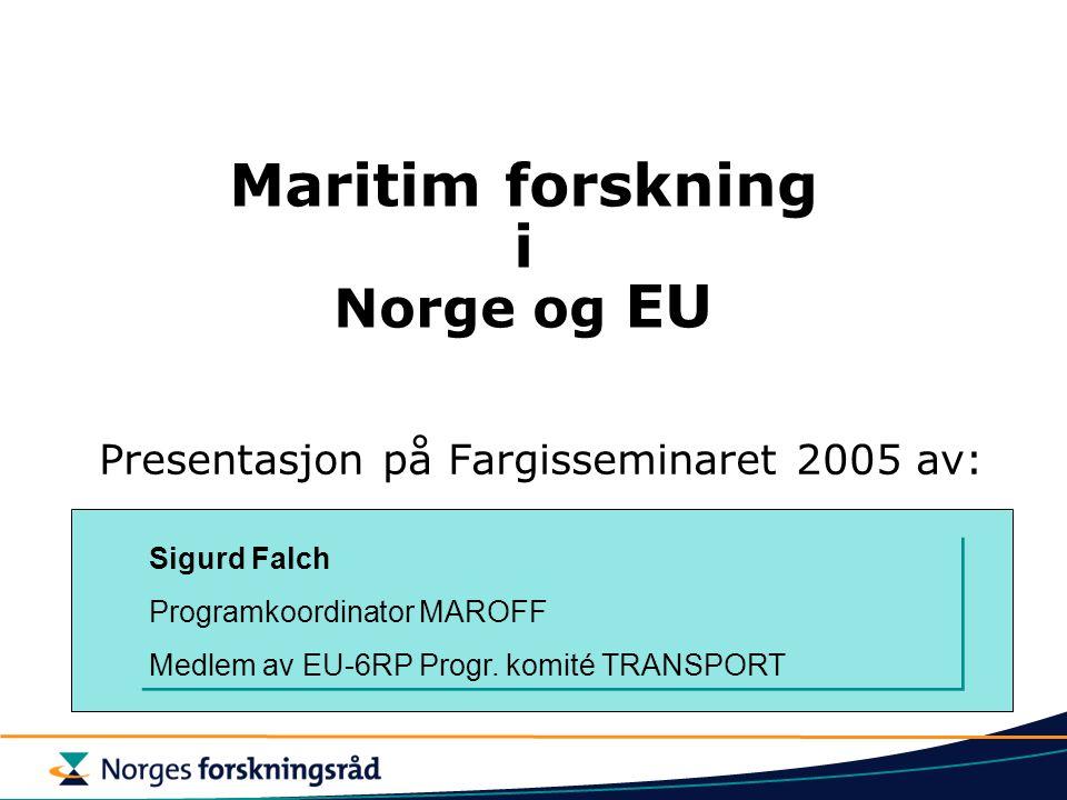 Maritim forskning i Norge og EU