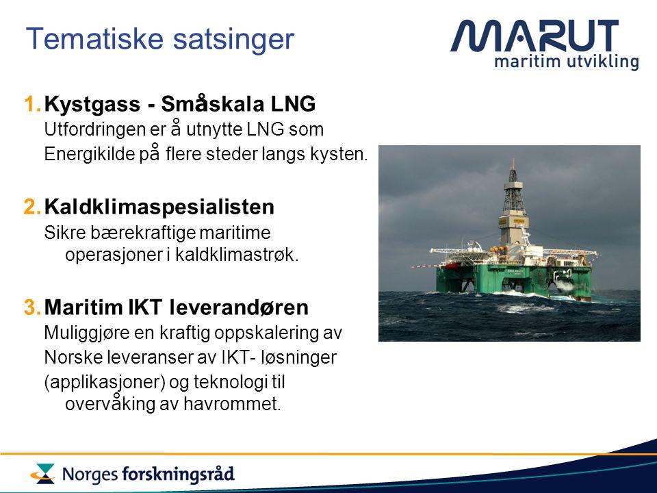 Tematiske satsinger Kystgass - Småskala LNG Kaldklimaspesialisten