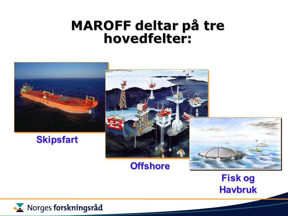MAROFF deltar på tre hovedfelter: