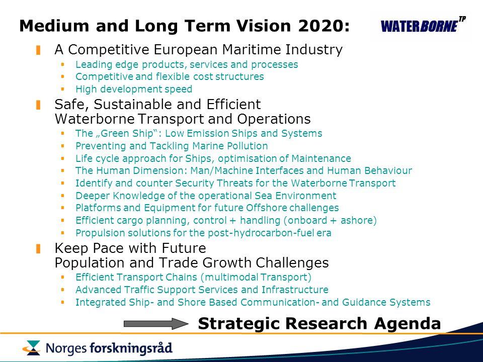 Medium and Long Term Vision 2020: