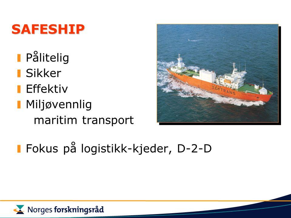 SAFESHIP Pålitelig Sikker Effektiv Miljøvennlig maritim transport