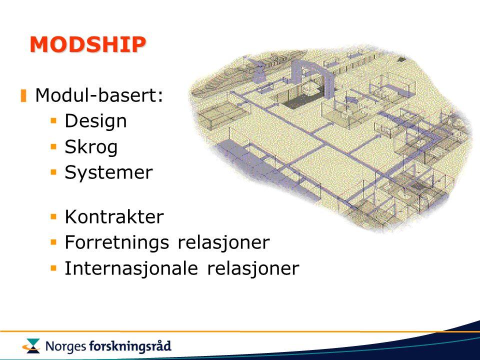 MODSHIP Modul-basert: Design Skrog Systemer Kontrakter