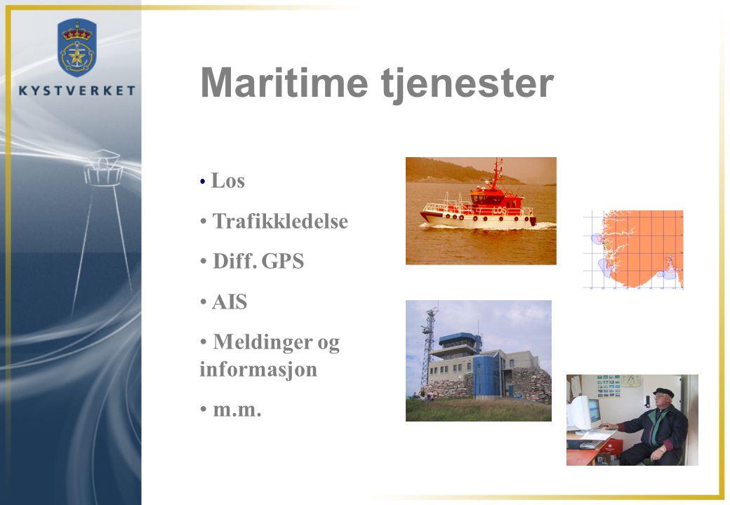 Maritime tjenester Trafikkledelse Diff. GPS AIS