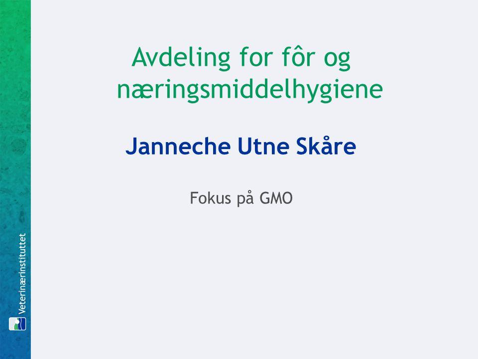 Avdeling for fôr og næringsmiddelhygiene