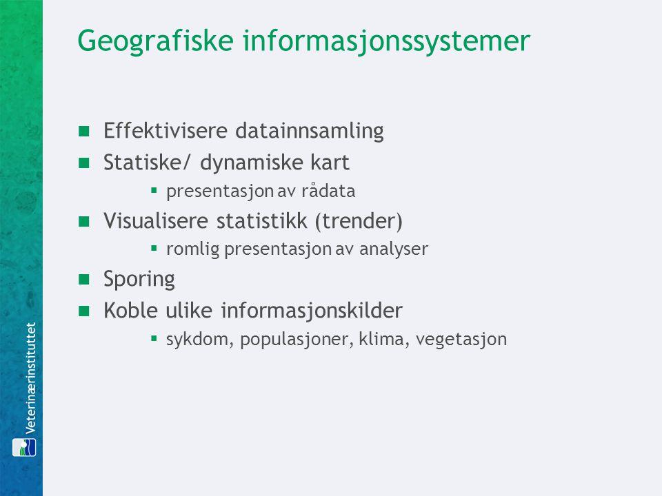 Geografiske informasjonssystemer