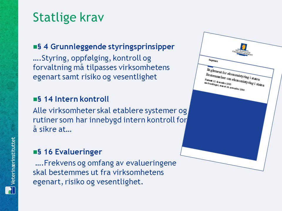 Statlige krav § 4 Grunnleggende styringsprinsipper