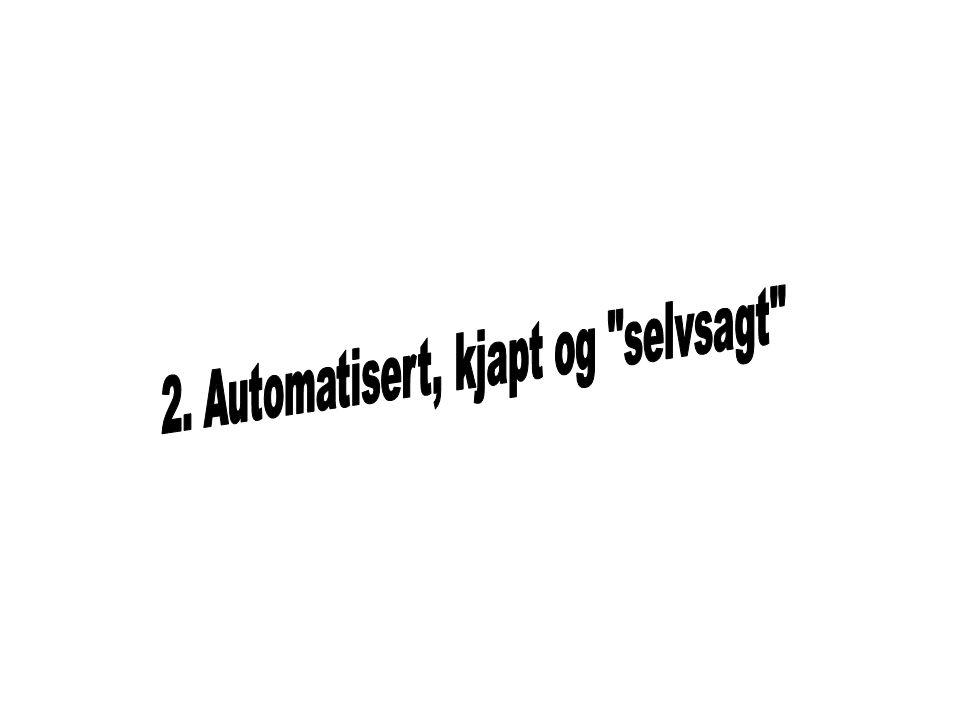 2. Automatisert, kjapt og selvsagt